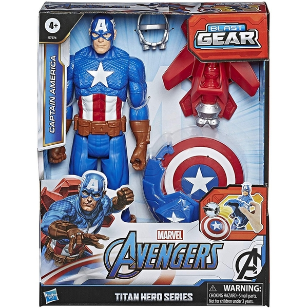 Avengers Titan Hero Series Blast Gear Captain America Action Figure