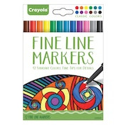 Crayola Fine Line Markers Classic 12 Colours