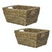 Natural Seagrass Storage Basket | M&W Set of 2 - Image 4