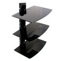 Black Glass Floating Shelf | M&W 3 Tier