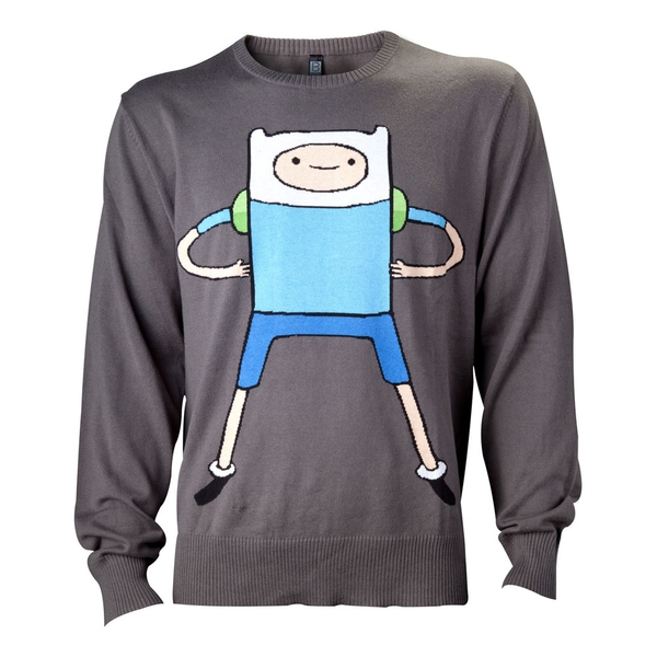 Adventure Time - Finn Men's Medium Sweatshirt - Black