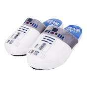 R2D2 Star Wars Slippers White Large (UK 8-10)