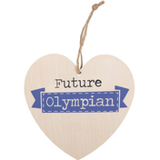 Future Olympian Hanging Heart Sign