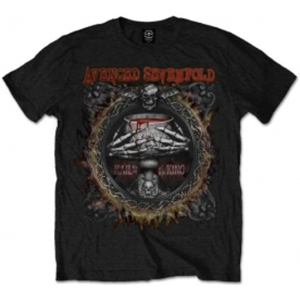 Avenged Sevenfold Drink Blk T Shirt: Medium