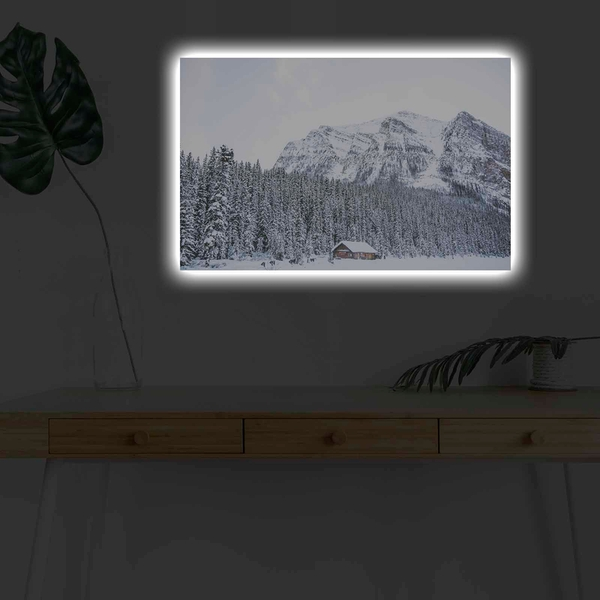 4570KARDACT - 027 Multicolor Decorative Led Lighted Canvas Painting