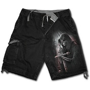 Soul Searcher Men's X-Large Vintage Cargo Shorts - Black