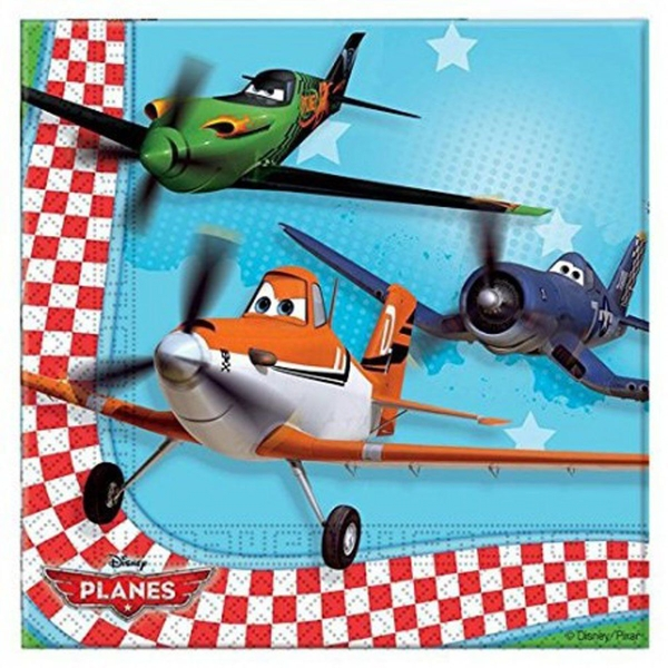 Planes Paper Napkins (Pack Of 20)