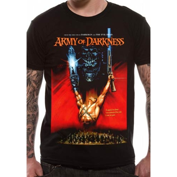 Army Of Darkness - Unisex Medium Poster T-Shirt (Black)
