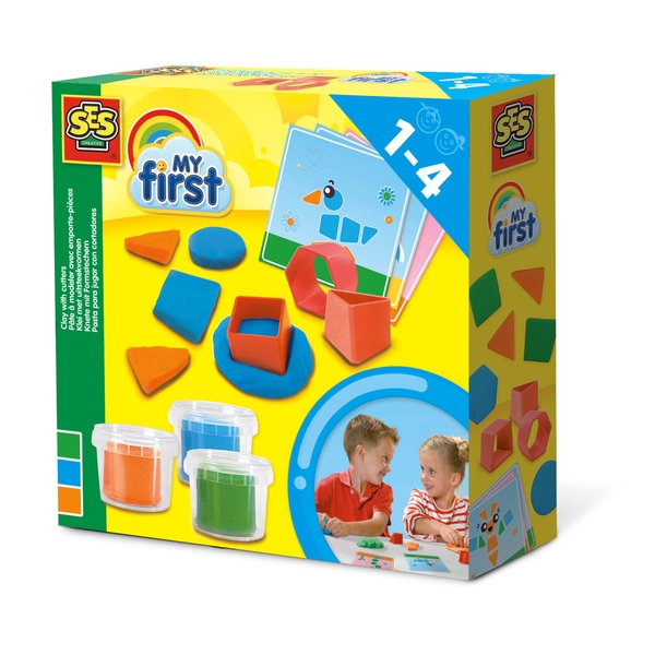 SES Creative - Children's My First Modelling Dough with Cutters Set (Multi-colour)