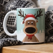 Thumbs Up Reindeer Mug
