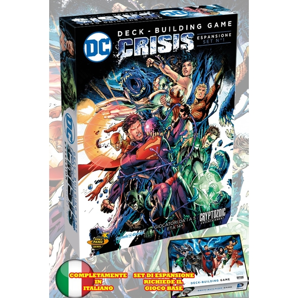 DC Comics-Deck Building Game-Expansion 1: Crisis (Italian)