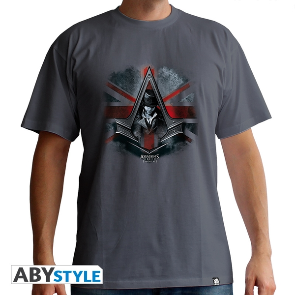 Assassin's Creed - Jacob Un. Jack Men's Large T-Shirt - Grey