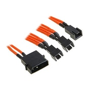 BitFenix Alchemy Molex to 3pin x3 Fan adaptor 12V 20cm - Orange