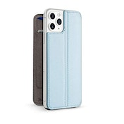 Twelve South SurfacePad for iPhone 11 Pro Max | Ultra-slim luxury Napa Leather Cover + display Stand with Sleep/Wake (Slate)