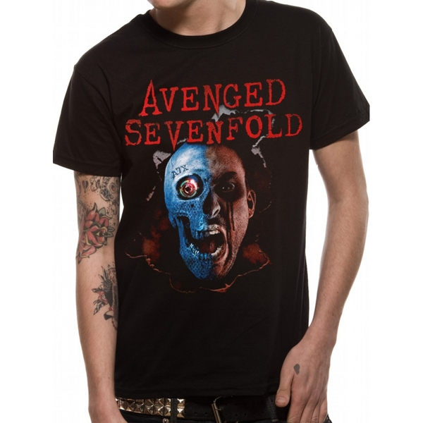 Avenged Sevenfold - Robot Head with Back Print Men's X-Large T-Shirt - Black