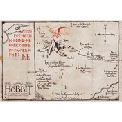 The Hobbit Mountain Map Maxi Poster
