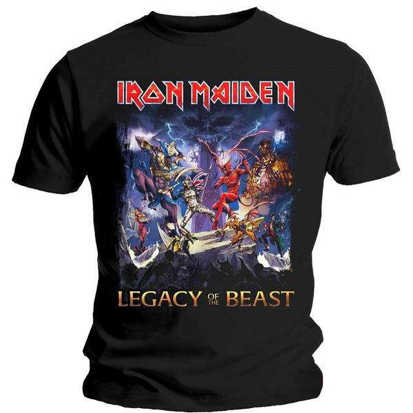 Iron Maiden - Legacy of the Beast Men's Small T-Shirt - Black