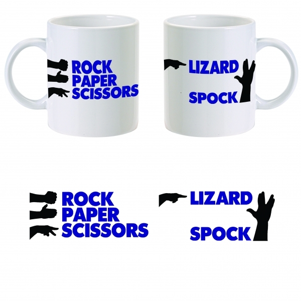 The Big Bang Theory Rock Paper Scissors Mug ZT