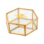 Sass & Belle Busy Bees Glass Jewellery Box