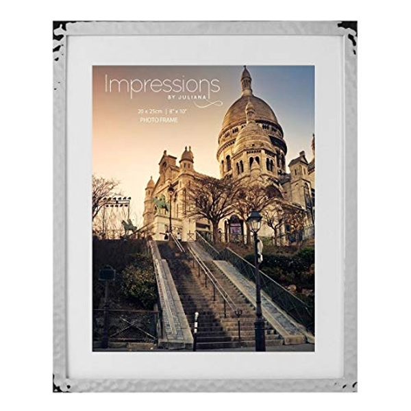 """8"""" x 10"""" - Impressions Hammered Silver Plated Frame"""