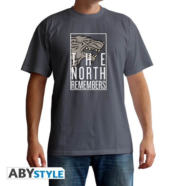 Game Of Thrones - The North Remembers Men'S Large T-Shirt - Grey