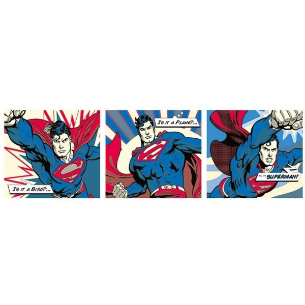 Superman Pop Art Triptych Door Poster