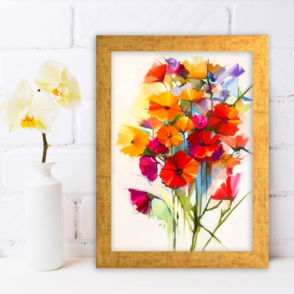 AC454561096 Multicolor Decorative Framed MDF Painting