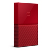 WD 1TB My Passport Portable Hard Drive and Auto Backup Software Red