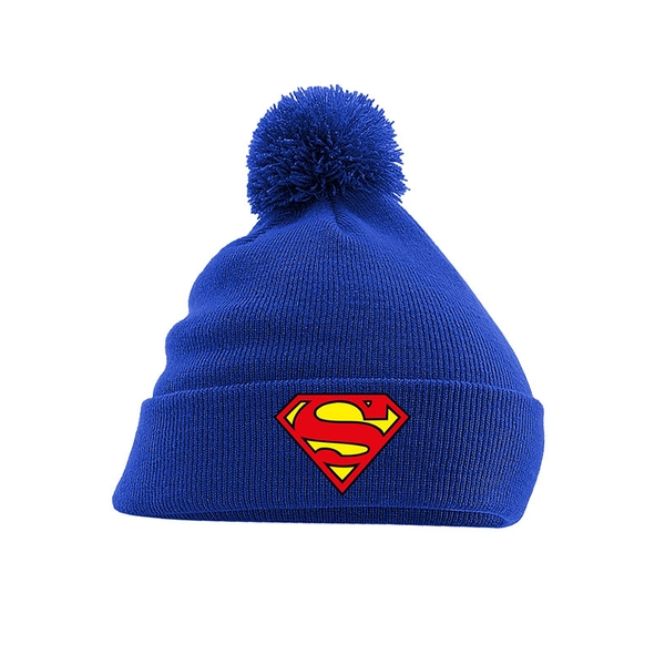 Superman - Logo Pom Men's Beanie - Blue