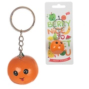 Cute Orange Fruity Keyring