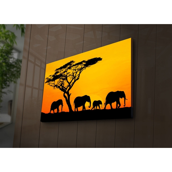 4570?ACT-53 Multicolor Decorative Led Lighted Canvas Painting