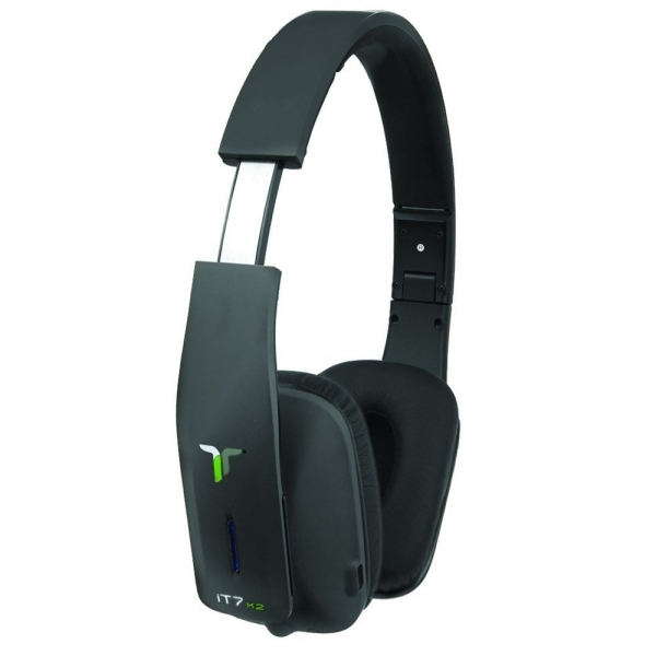 iT7x2 Foldable Wireless Bluetooth Headphones with Near Field Communication NFC Black - Image 2