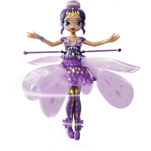 Hatchimals Crystal Flyers Purple Magical Flying Pixie Toy
