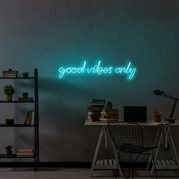 Good Vibes Only - Blue Blue Wall Lamp