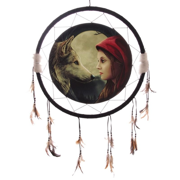 Wolf and Women Dreamcatcher Large