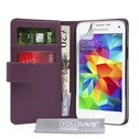 YouSave Accessories Samsung Galaxy S5 Mini Leather-Effect Wallet Case - Purple