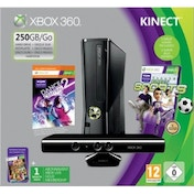 250GB Xbox 360 Console + Kinect Sensor + Kinect Sports + Dance Central 2