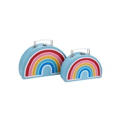 Sass & Belle Chasing Rainbows Suitcases - Set of 2