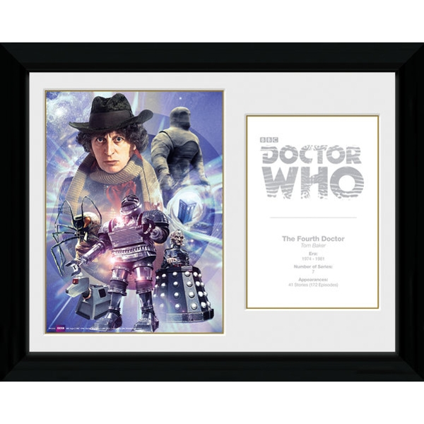 Doctor Who 4th Doctor Tom Baker Framed Photographic Print