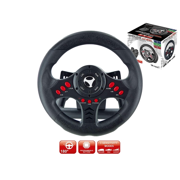 Subsonic Universal Racing Wheel with Pedals for PS4 & Xbox One - Image 1