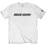 Billie Eilish - Black Racer Logo Men's Large T-Shirt - White