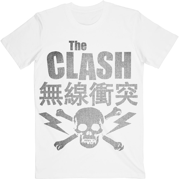 The Clash - Skull & Crossbones Unisex XX-Large T-Shirt - White