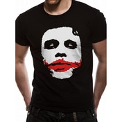 The Dark Knight - Joker Big Face Men's XX-Large T-Shirt - Black