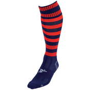Precision Hooped Pro Football Socks Junior - Navy/Red