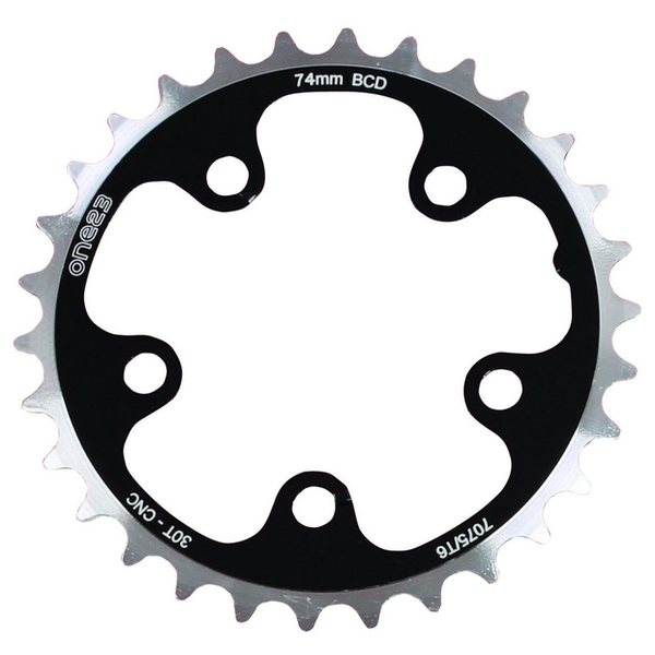 ETC Chainring Alloy 74mm 30 Teeth Silver/Black