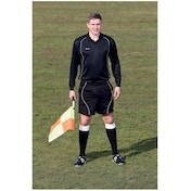 Precision Referees Short Sleeve Shirt Black/White 46-48