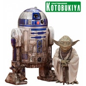 Yoda & R2-D2 Dagobah Version (Star Wars Empire Strikes Back) 1:10 Scale ArtFX+ Kotobukiya