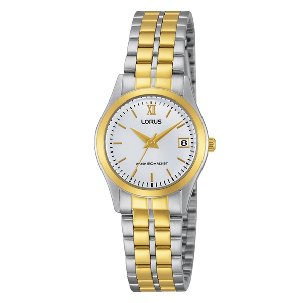 Lorus RH770AX9 Ladies Classic Two Tone Bracelet Watch with Gold Roman Numerals