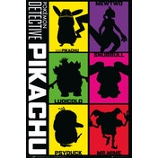 Detective Pikachu Silhouette Maxi Poster