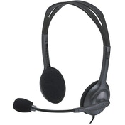 Logitech H111 Wired Stereo Headset with Noise-Cancelling Microphone - Black